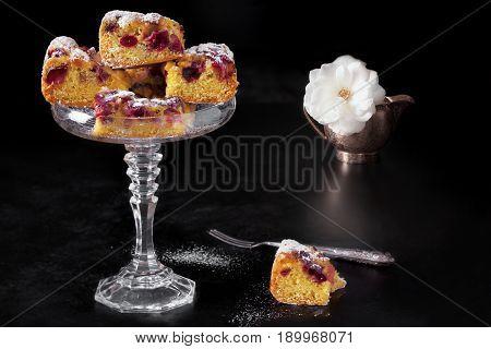 Cherries Plumcake