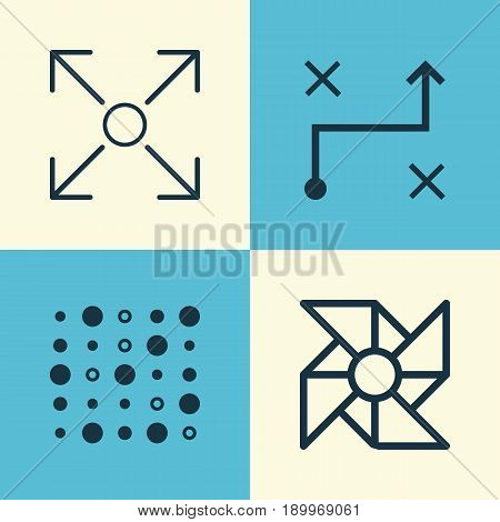 Robotics Icons Set. Collection Of Branching Program, Laptop Ventilator, Variable Architecture And Other Elements. Also Includes Symbols Such As Structure, Variable, Branching.