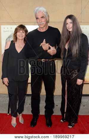 LOS ANGELES - JUN 5:  Katharine Ross, Sam Elliott, Cleo Rose Elliott at