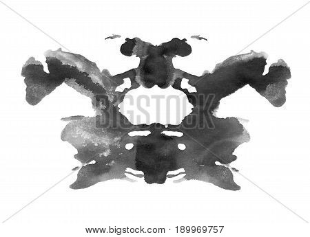 Ink blot in rorschach psychology test style isolated on white background