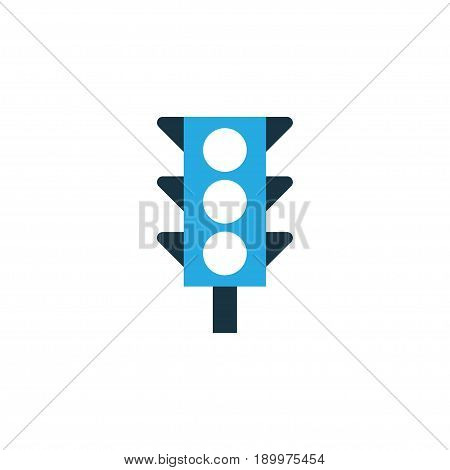 Traffic Light Colorful Icon Symbol. Premium Quality Isolated Stoplight Element In Trendy Style.