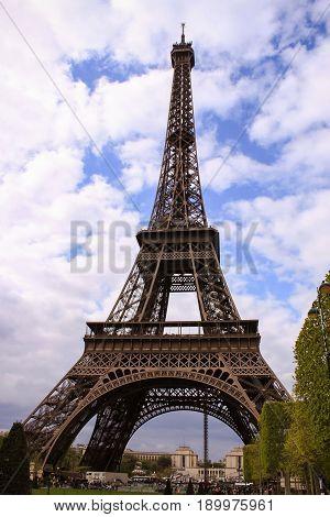 France Paris Tour Eiffel Day Travel View