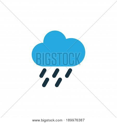 Drizzle Colorful Icon Symbol. Premium Quality Isolated Rainstorm Element In Trendy Style.