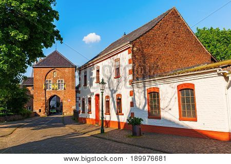 Townscape With Town Gate In Bedburg-kaster, Germany