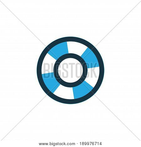 Lifesaver Colorful Icon Symbol. Premium Quality Isolated Lifebuoy Element In Trendy Style.