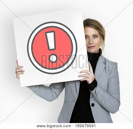 Model Show Exclamation Mark Icon Sign