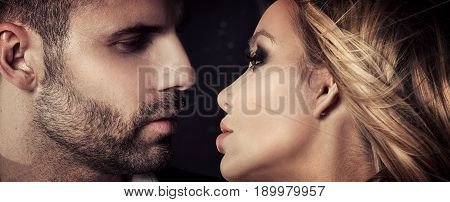 Sensual Couple Looking At Eachother.