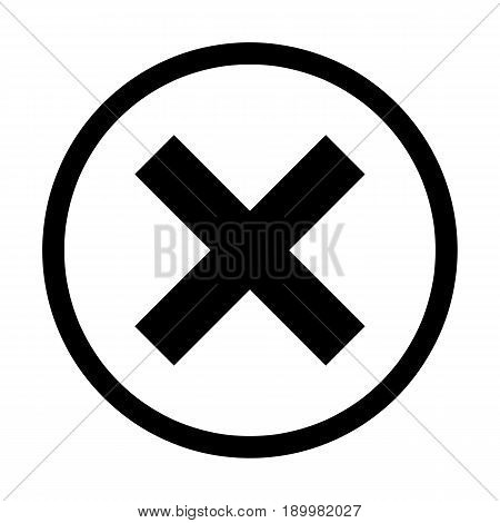 Wrong mark minimal style Icon vector Eps10