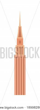 Business tower isolated icon. Commercial real estate, multi storey building, skyscraper, architecture design vector illustration.