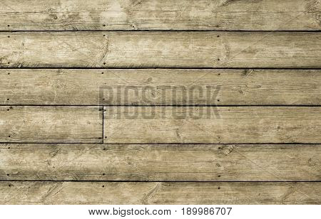 Old vintage outdoor wood with rusted screw texture background.