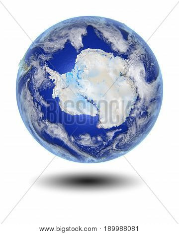 Antarctica On Hovering Globe