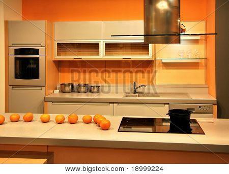 Cocina atractivo naranja