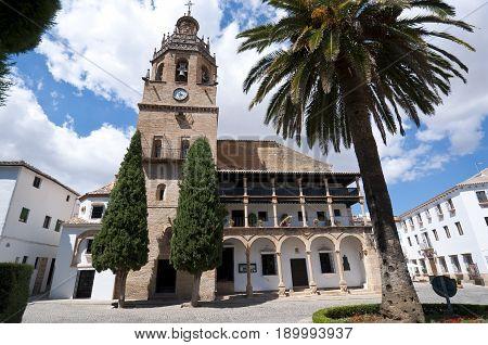 Santa Maria la Mayor Church, Ronda, Malaga, Andalusia, Spain