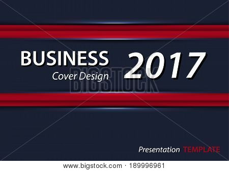 Red and blue presentation tempate or cover design . A4 horizontal size .
