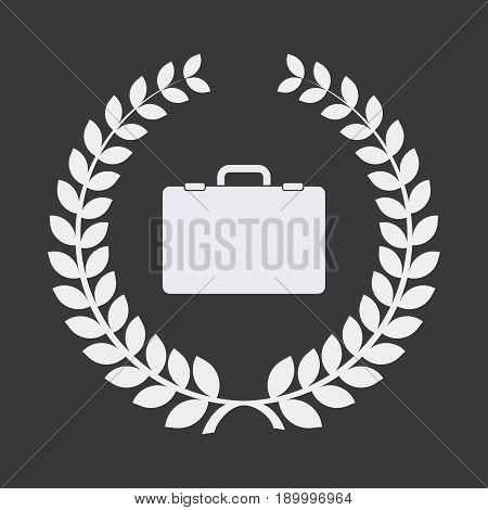 Isolated Laurel Wreath With  A Briefcase