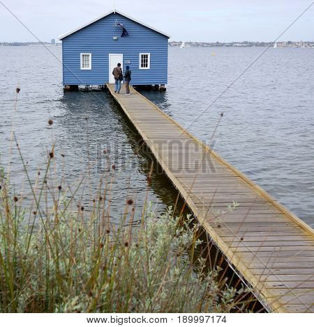 PERTH AUSTRALIA, 20 MAY 2017: Crawley Boatshed on the Swan River