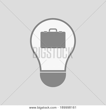 Isolated Light Bulb With  A Briefcase