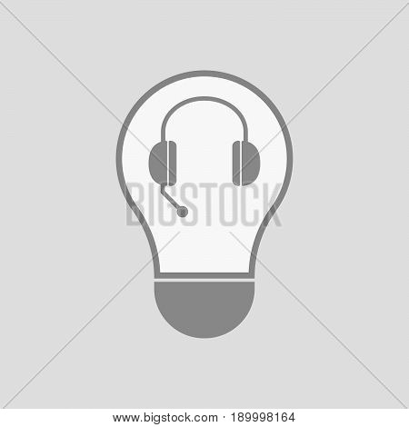 Isolated Light Bulb With  A Hands Free Phone Device