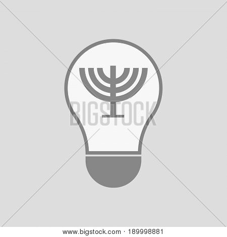 Isolated Light Bulb With A Chandelier