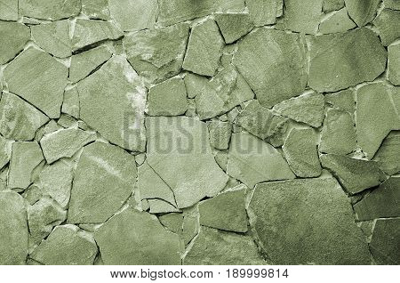 Stone Wall Background - Building Feature. Texture Of Thick And Strong Wall Of Rough Stones Of Variou