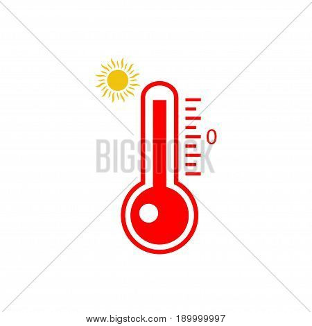 Thermometers icon. High temperature vector icon on white background
