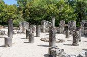 Ruins of the Baptistery in Butrint, Albania. Butrint was one of the biggest roman settlements in Balkan region. poster