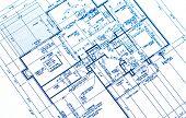 house plan blueprints from a new housing development poster