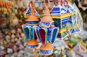 Ramadan lanterns in Khan Khalili bazaar in Cairo, Egypt poster