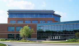 Medical Office Building. Newark, Delaware USA - May 30, 2014: A modern medical office building on a hospital campus housing physician practices and other health care services