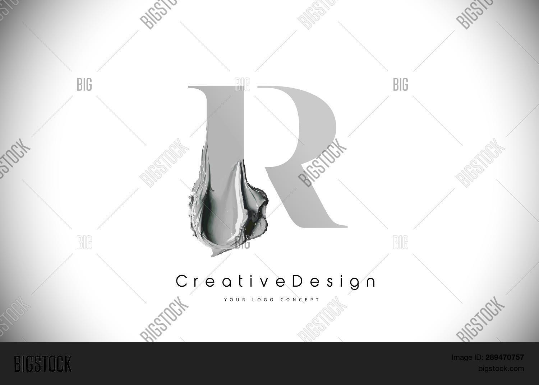 R Letter Design Brush Vector & Photo (Free Trial) | Bigstock