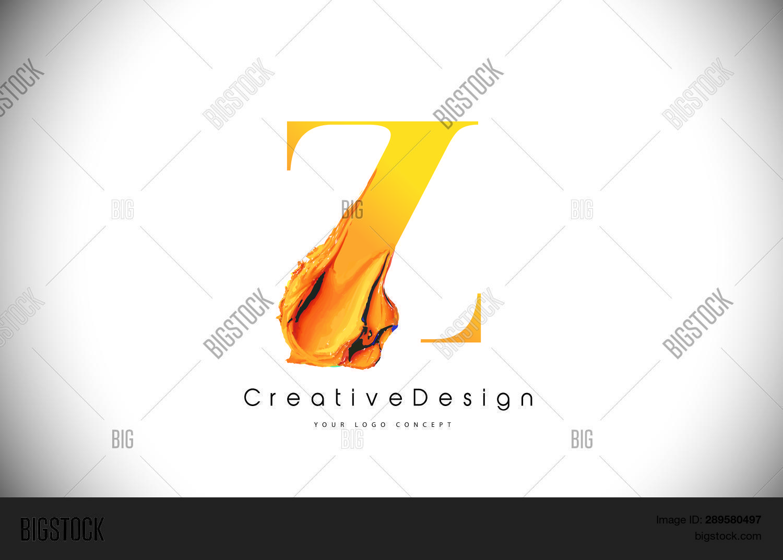 Z Orange Letter Vector & Photo (Free Trial) | Bigstock