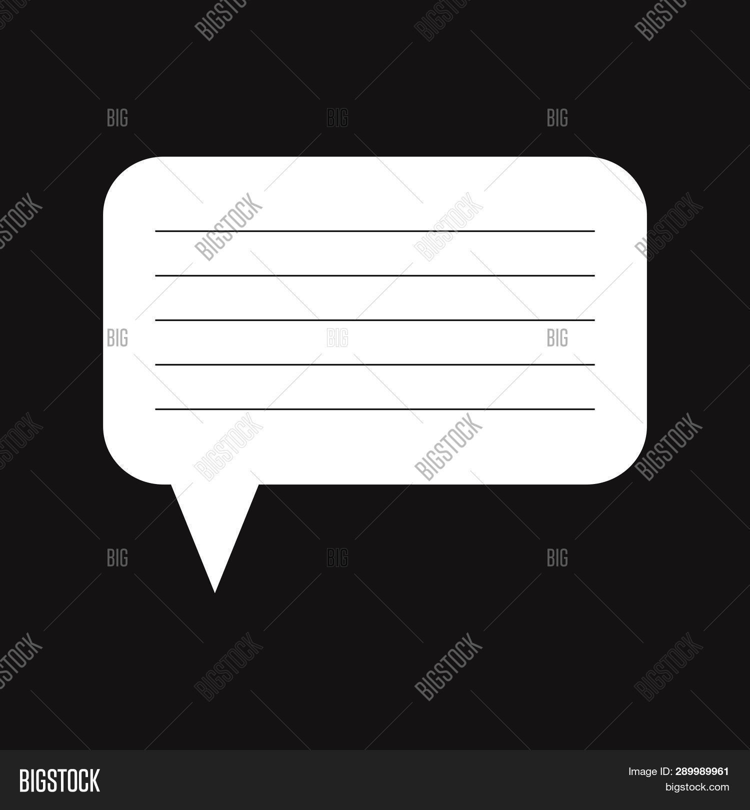 Speech Bubble Lines Vector & Photo (Free Trial) | Bigstock