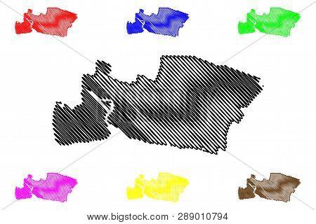 Samut Prakan Province (kingdom Of Thailand, Siam, Provinces Of Thailand) Map Vector Illustration, Sc