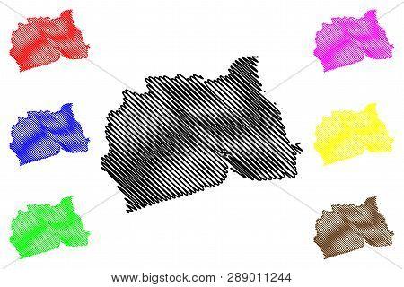 Samut Sakhon Province (kingdom Of Thailand, Siam, Provinces Of Thailand) Map Vector Illustration, Sc