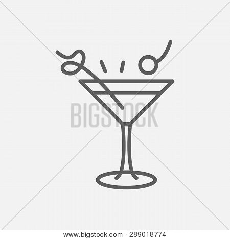 Manhattan Cocktail Icon Line Symbol. Isolated Vector Illustration Of  Icon Sign Concept For Your Web