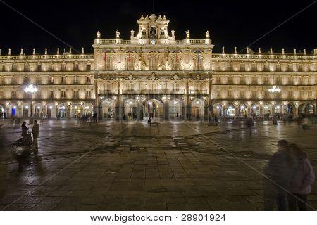 Plaza Mayor, main square in Salamanca, Spain.