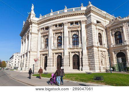 Vienna, Austria - November 2, 2015: The Burgtheater, Is The Austrian National Theatre In Vienna. Ord