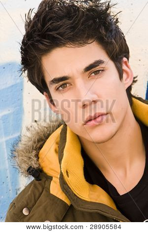 Young man portrait in casual clothing