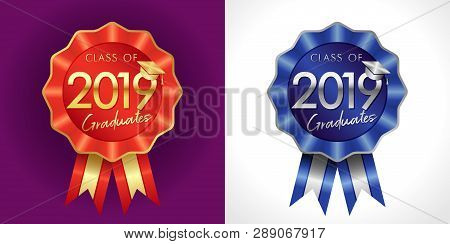 Class Of 20 19 Year Congrats Graduates Award. Iq Sign For Uniform Jacket Lapels, Sport Symbol. Isola