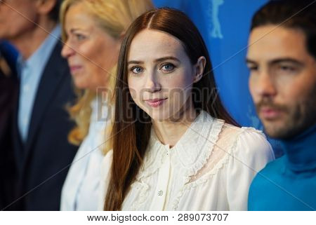 Lone Scherfig, Zoe Kazan and Tahar Rahim pose at the 'The Kindness Of Strangers' photocall during the 69th Berlinale  Festival Berlin at Grand Hyatt Hotel on February 07, 2019 in Berlin, Germany
