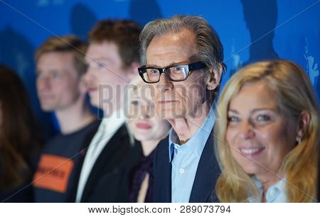 Bill Nighy and Lone Scherfig pose at the 'The Kindness Of Strangers' photocall during the 69th Berlinale International Film Festival Berlin at Grand Hyatt Hotel on February 07, 2019 in Berlin, Germany