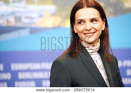 Juliette Binoche attends the International Jury press conference during the 69th Berlinale International Film Festival Berlin at Grand Hyatt Hotel on February 07, 2019 in Berlin, Germany.