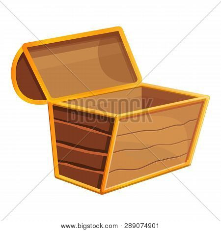 Empty Dower Chest Icon. Cartoon Of Empty Dower Chest Icon For Web Design Isolated On White Backgroun