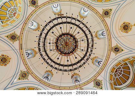 Konya / Turkey - December 10 2018: Aziziye Mosque architectural details.