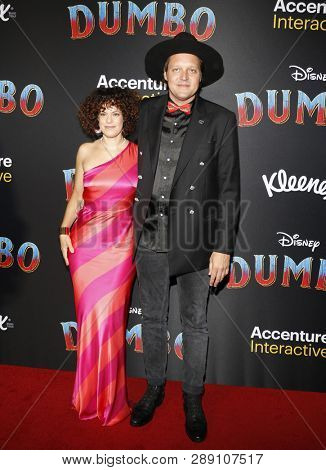 Regine Chassagne and Win Butler at the World premiere of 'Dumbo' held at the El Capitan Theatre in Hollywood, USA on March 11, 2019.