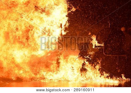 Fire Industry Flames Background For Your Work .