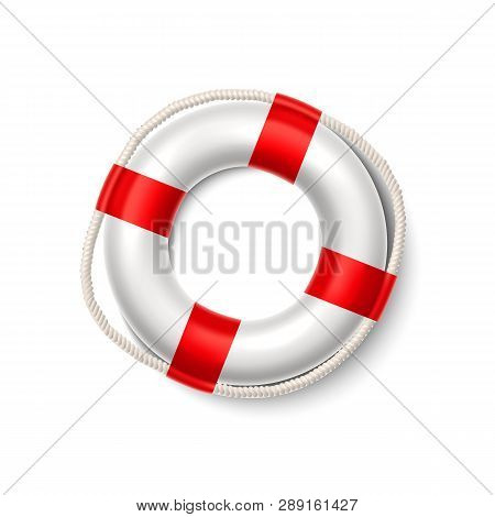 Vector Life Buoy Safety Ring Lifeguard Resqcuer