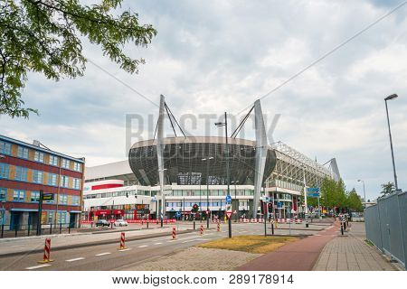 EINDHOVEN, NETHERLANDS - JULY 27, 2018 : Philips Stadion is a football stadium in Eindhoven