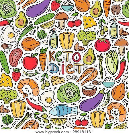 Seamless Pattern Ketogenic Diet