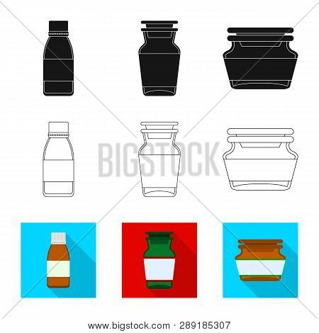 Vector Design Of Retail And Healthcare Sign. Collection Of Retail And Wellness Stock Symbol For Web.